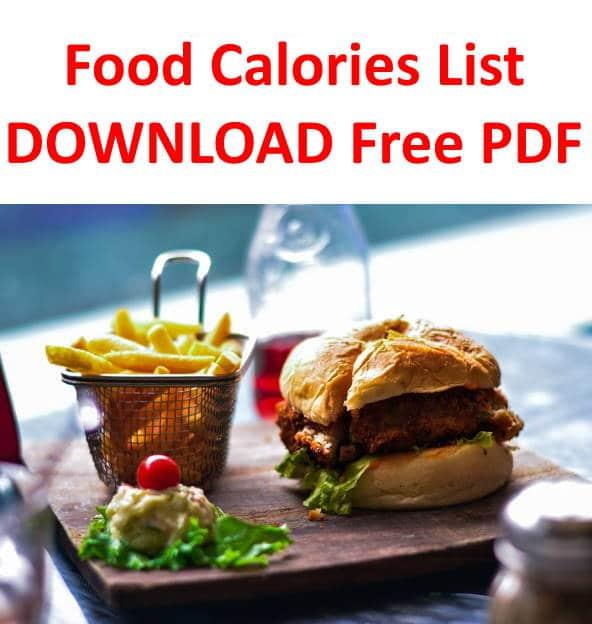 Food Calories List