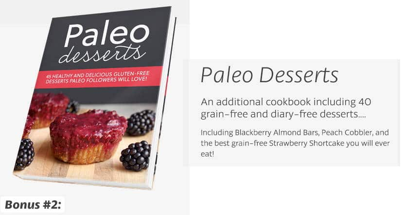 Paleo Desserts Cookbook bonus